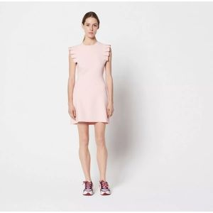 2018 NWT Sandro Laurena Pink Pleated Collar Dress